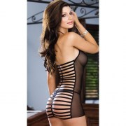 BABYDOLL-THONG-BLACK-ONE -IZE