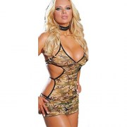 CAMOUFLAGE-DRESS-W-THONG-GREEN-ONE-SIZE