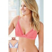 Diasy Non Wired Bras 2 Pack Coral